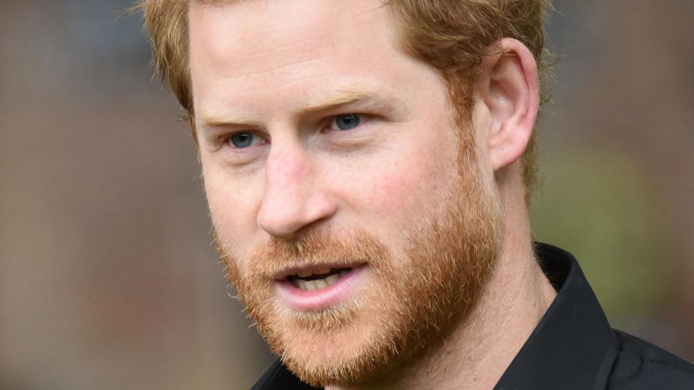 Prince Harry with facial hair