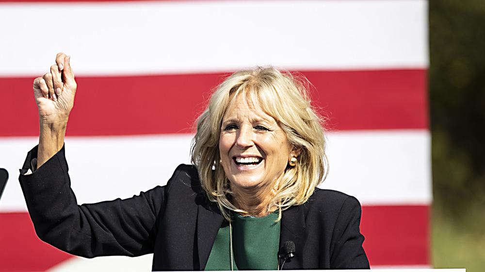 Dr. Jill Biden at a campaign rally