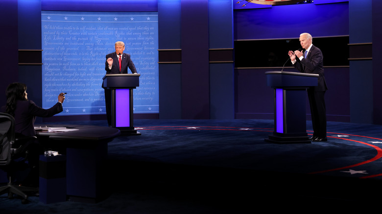 Trump and BIden at the 3rd presidential debate