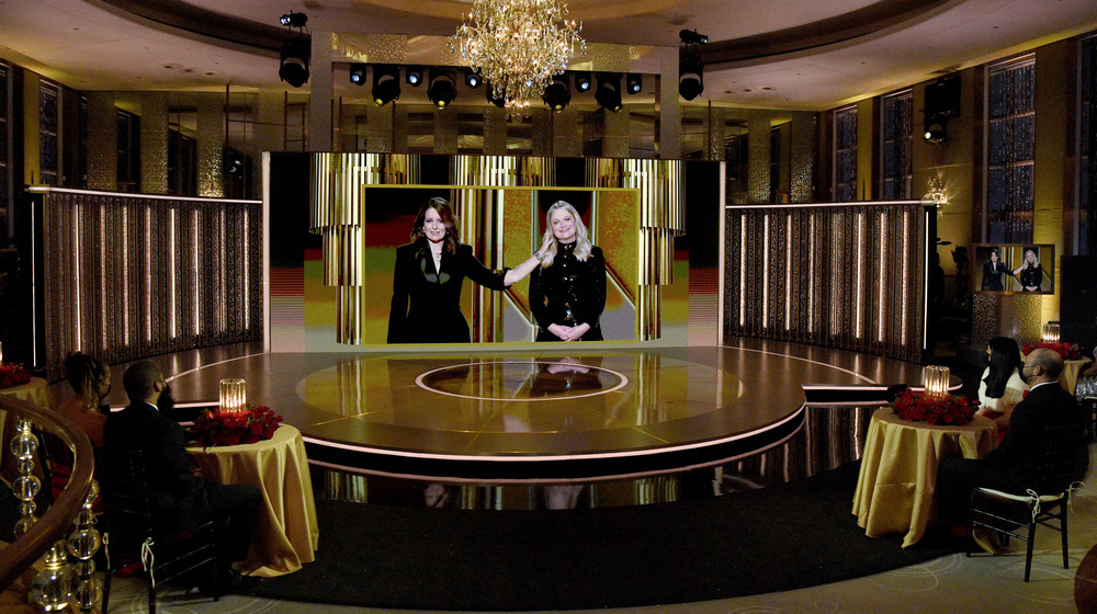 Golden Globes virtual stage Tina Fey Amy Pohler