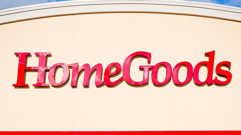 A HomeGoods storefront sign