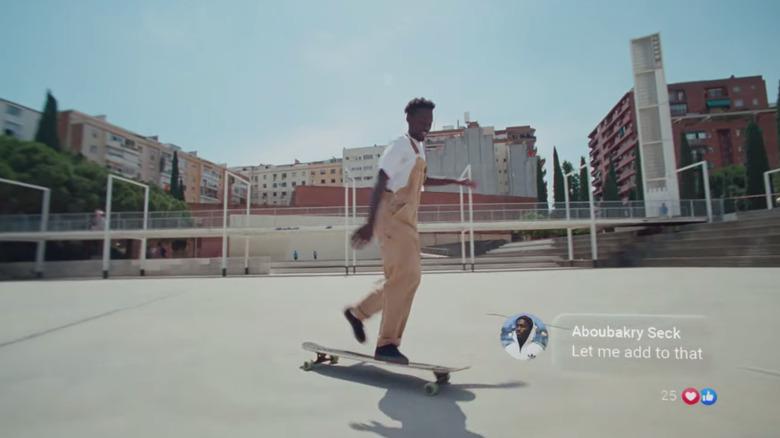 Facebook commercial screenshot