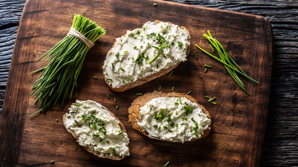 Chives on toast
