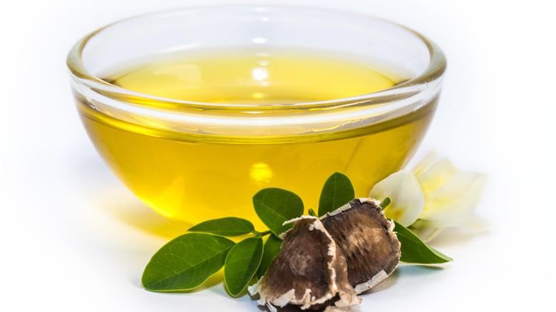 A bowl of moringa oil