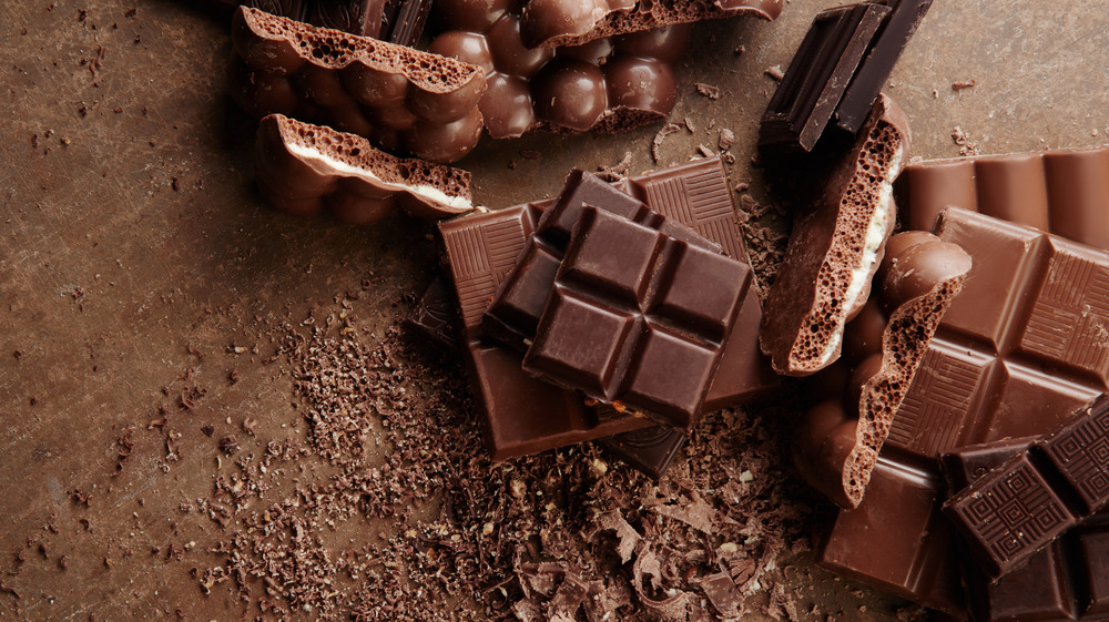 Different types of chocolate candy