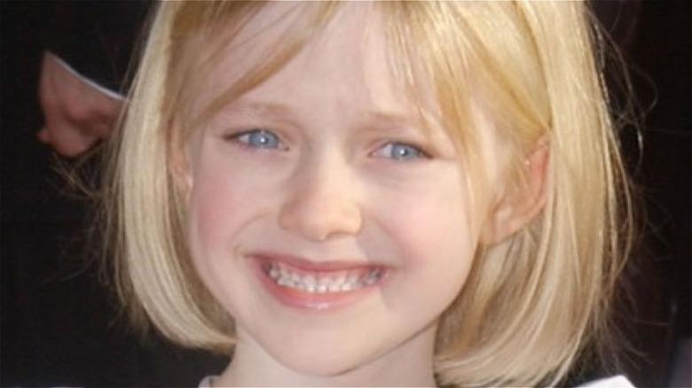 Young Dakota Fanning smiling