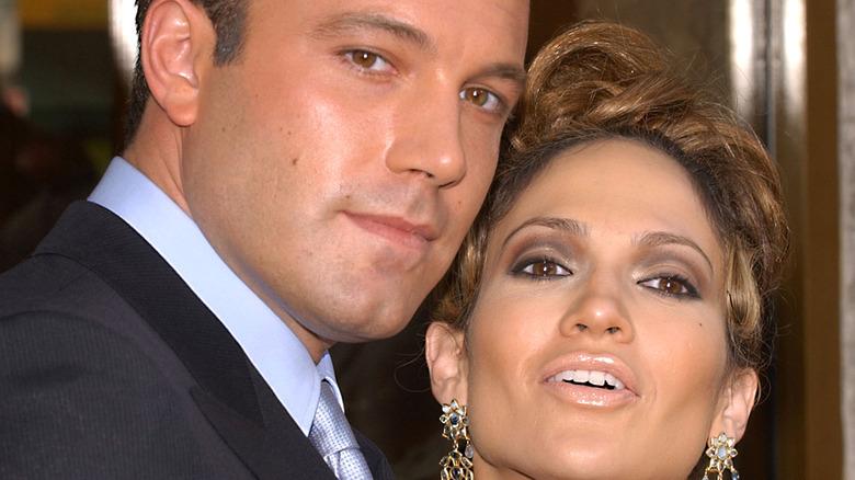 Ben Affleck and Jennifer Lopez at a movie premiere