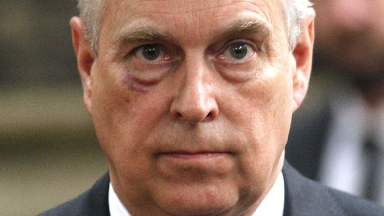 Prince Andrew with a straight face