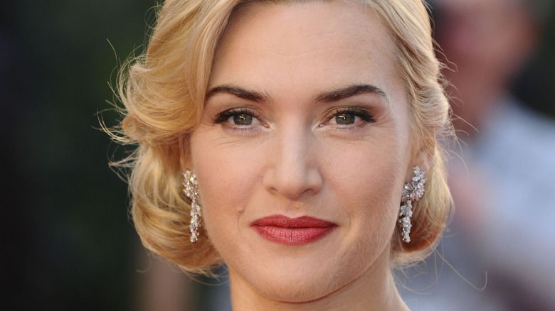 Kate Winslet with her hair up