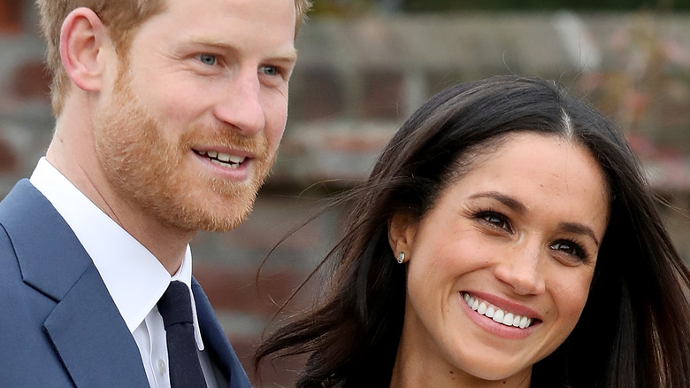 Prince Harry and Meghan Markle at a royal event