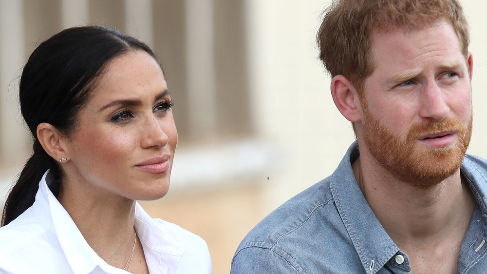 Prince Harry and Meghan Markle at an event