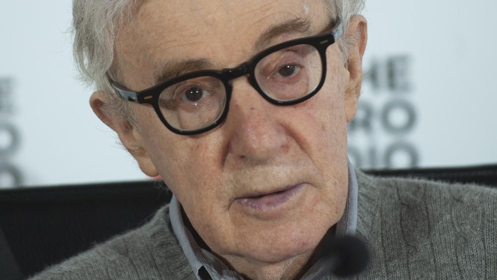 Woody Allen looking straight ahead