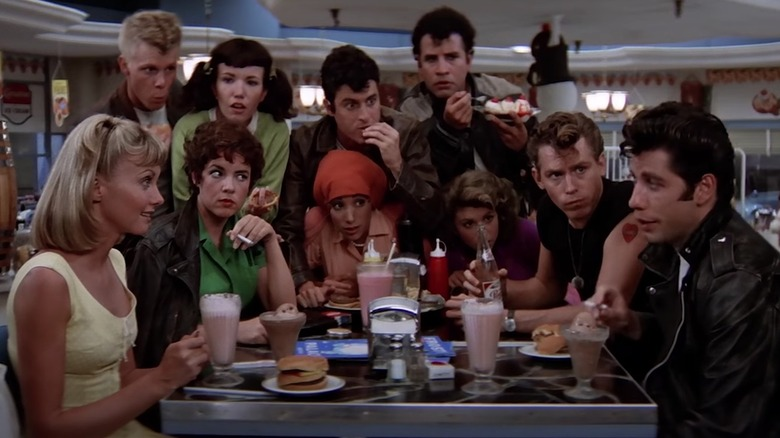 The cast of Grease