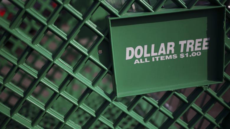 Dollar Tree shopping cart