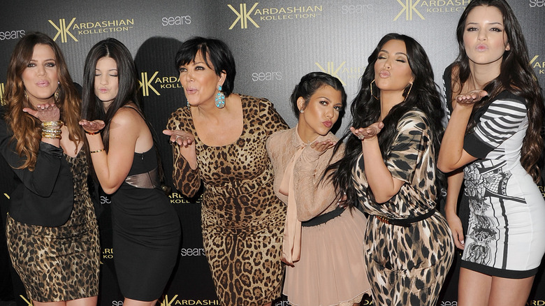 The Kardashian and Jenner sisters with mom Kris