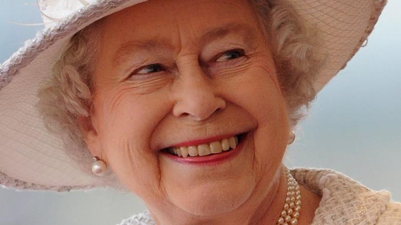 Queen Elizabeth white hat