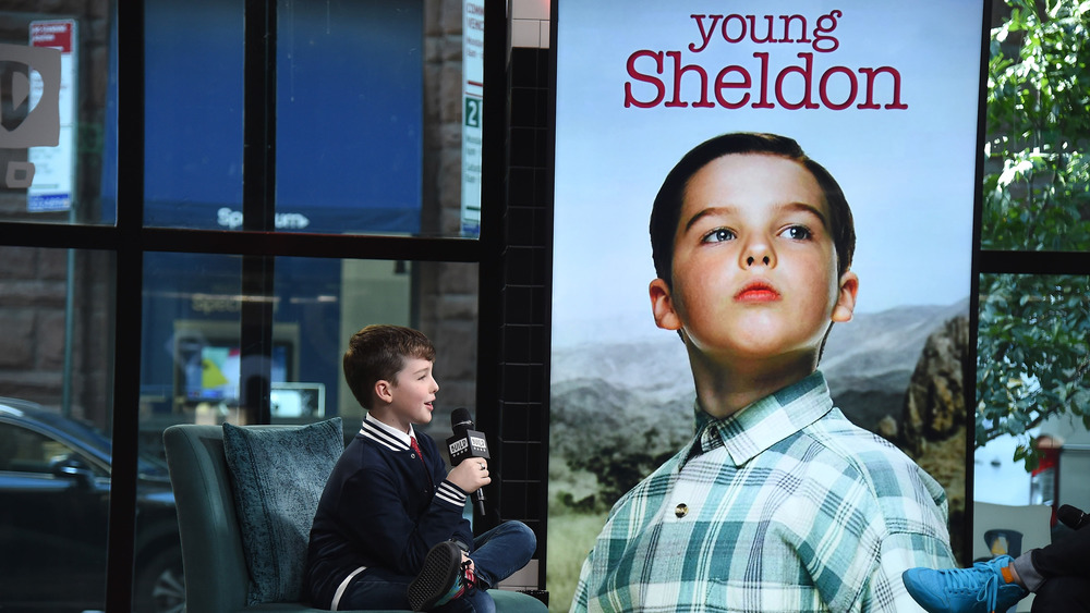Iain Armitage, Young Sheldon, talking