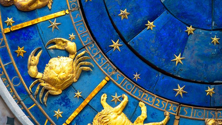 Zodiac wheel with Cancer