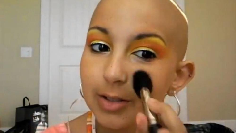 Talia Joy Castellano in a makeup tutorial