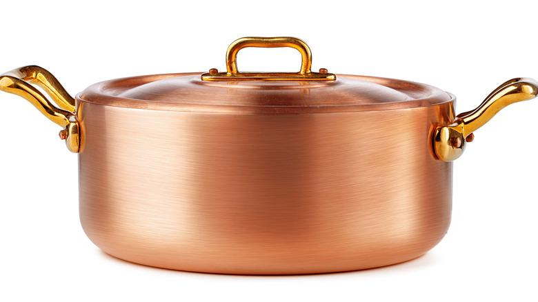 A copper pot