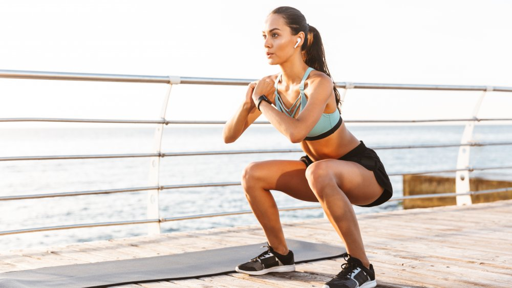 woman squatting