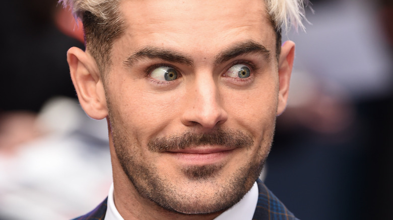 Zac Efron makes surprised face