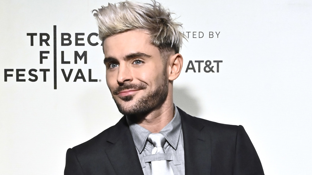 Zac Efron with blond hair