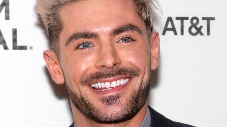 Zac Efron with blonde hair